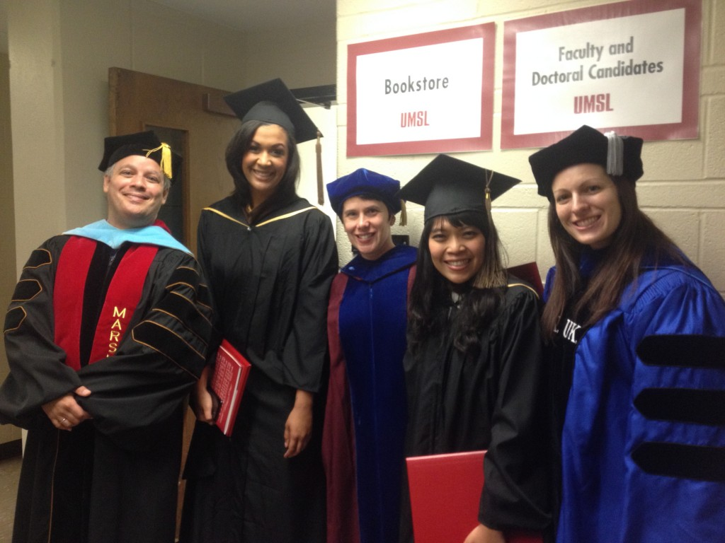 Faculty and students at May 2014 Commencement
