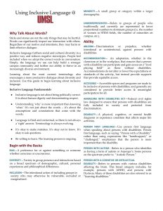 Inclusive Language Resource Sheet (PDF)