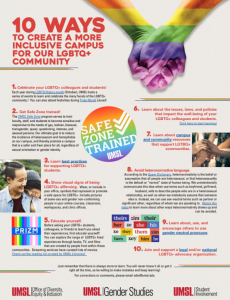10 Ways to create a more inclusive campus for LGBTQ + Community