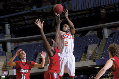 Troy Long, a senior guard for the UMSL Tritons