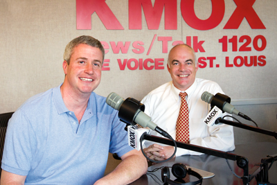 UMSL alumni Michael Kelley (left) and John Hancock