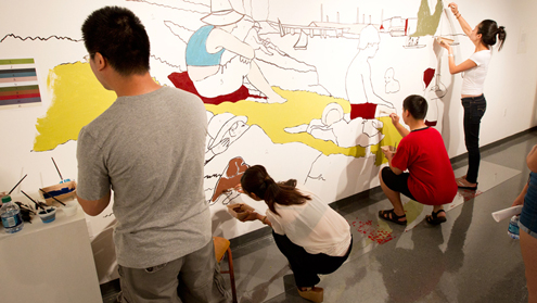 Eye on UMSL: Paint by numbers