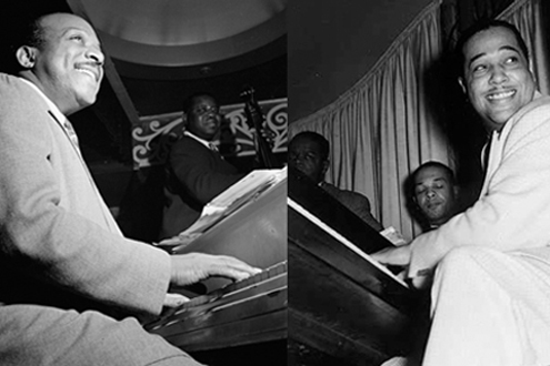 Count Basie (left) and Duke Ellington