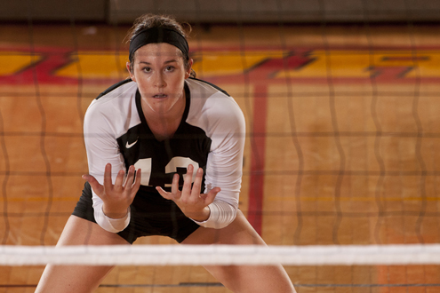 Liz Jaeger, senior on the UMSL Volleyball team