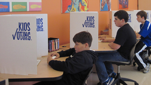 Kids Voting participants mirror presidential, most state election results