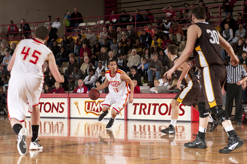 Joshua Mccoy, senior on the UMSL men's basketball team