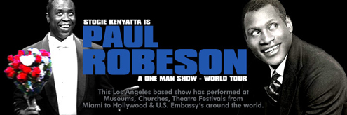 "Stogie Kenyatta will perform ""The World Is My Home: The Life of Paul Robeson"""