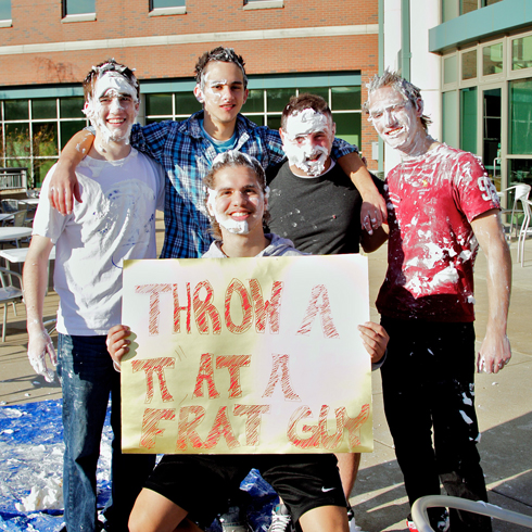 UMSL: Throw a Pie at a Frat Guy