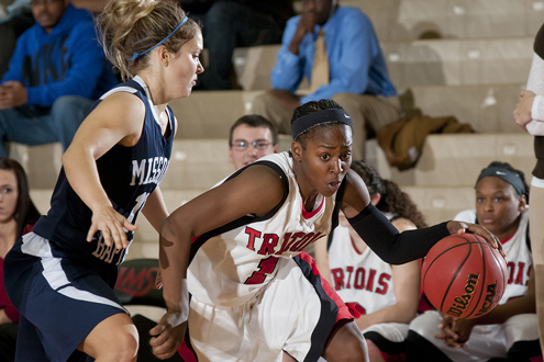 Angela Johnson, senior on the UMSL women's basketball team