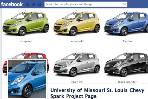 Marketing class garners second place in Chevy Spark campaign