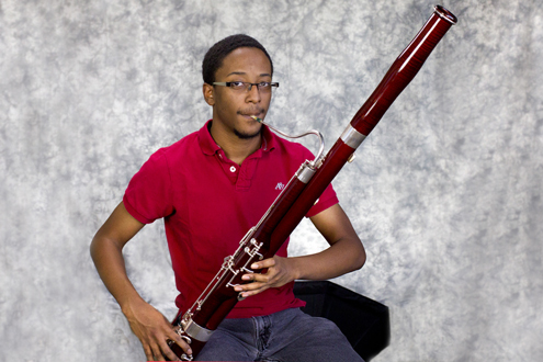 Joseph Hendricks, a junior majoring in music at UMSL