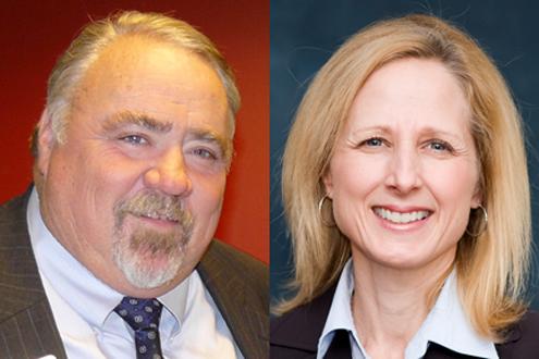 UMSL alumni Douglas Harms and Elizabeth Kurila