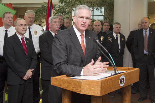 Gov. Jay Nixon at UMSL