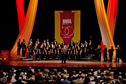 University Singers perform at UMSL Jubilee Kickoff