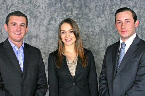 UMSL alumni (from left) Michael Orso, Anna Marie Curran and William J. Hediger IV