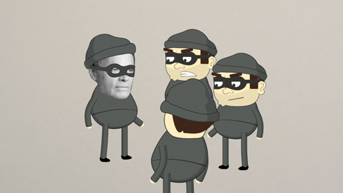 Criminologist takes on cartoon form to discuss burglaries