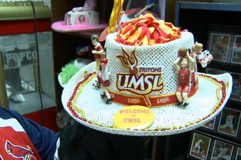 Tom Lange's UMSL hat
