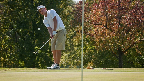 David Abolt, a freshman on the UMSL men's golf team