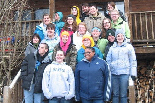 UMSL students at Bethlehem Farm