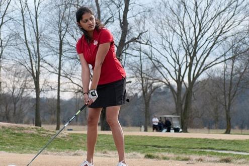 UMSL senior women's golfer Shweta Galande