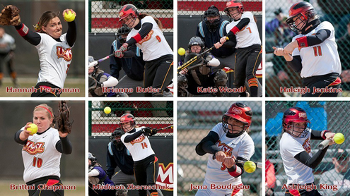 UMSL softball players named to All-GLVC teams