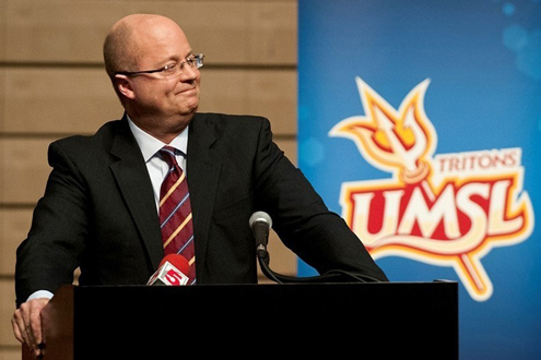 Bob Sundvold, new head coach of the UMSL men's basketball team