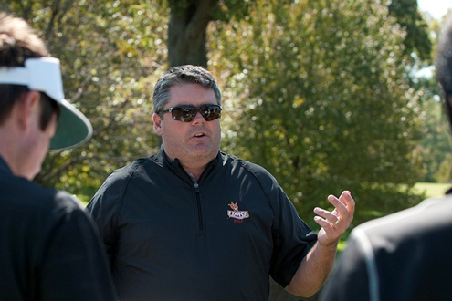 Troy Halterman, head coach of the UMSL men's golf team