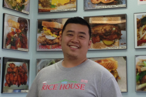 UMSL alumnus Kenny Truong, BSBA 2007, owner of The Rice House in Florissant, Mo.
