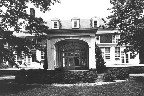 The clubhouse of the Bellerive Country Club at UMSL