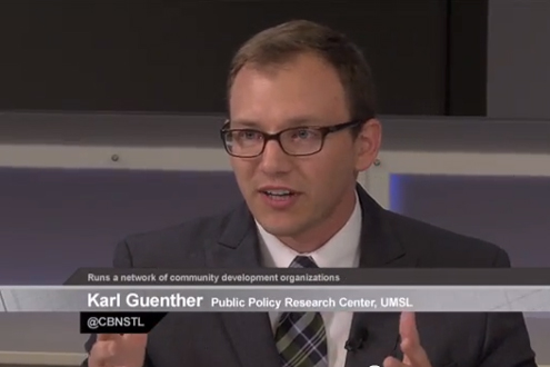 Karl Guenther, community development specialist in the PPRC at UMSL