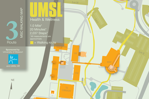 Walking route at UMSL