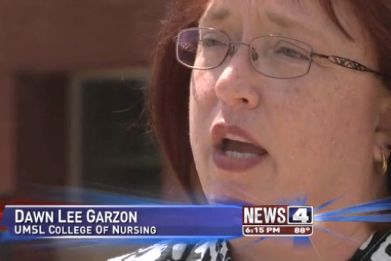 Dawn Lee Garzon, teaching professor of nursing at UMSL, on KMOV (Channel 4)