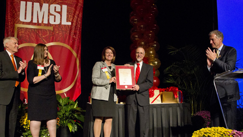 Chancellor Tom George honored for 10 years as UMSL's top leader