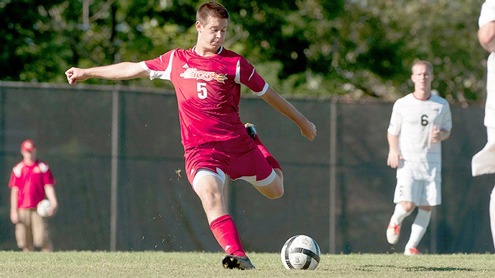 Jon Huelsman of the UMSL men's soccer team