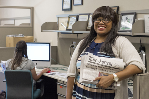Sharon Pruitt, editor-in-chief of The Current, UMSL's student newspaper
