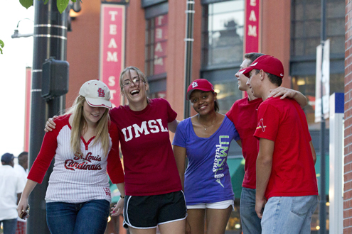 UMSL students at Busch Stadium