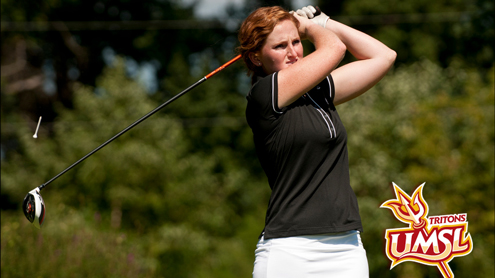 Bailey Hopper of the UMSL women's golf team