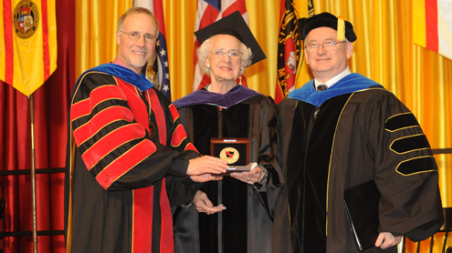 'True, loyal friend' receives UMSL's Chancellor's Medallion