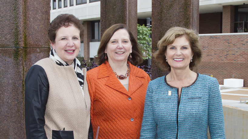 UMSL deans (from left) Carole Basile, College of Education; Susan Dean-Baar, College of Nursing; and Jean M.K. Miller, College of Fine Arts and Communication