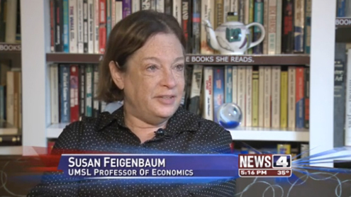 Susan Feigenbaum, professor of economics at UMSL