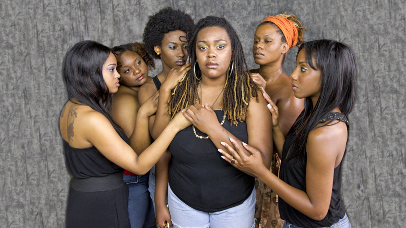 "UMSL student cast of ""For Colored Girls"""