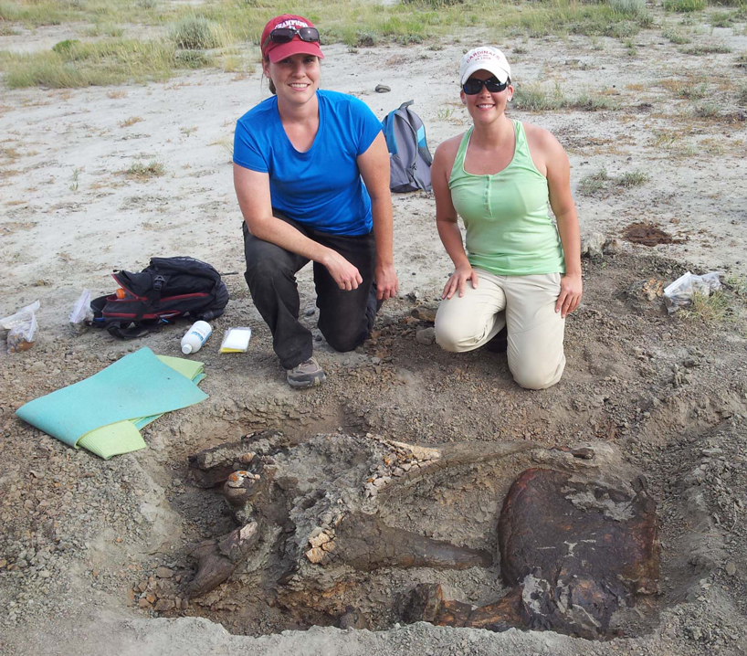 UMSL students on a dino dig