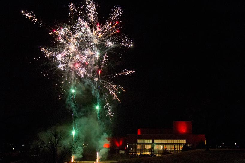 Fireworks at UMSL Jubilee Kickoff
