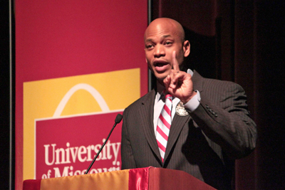 Wes Moore speaks at UMSL