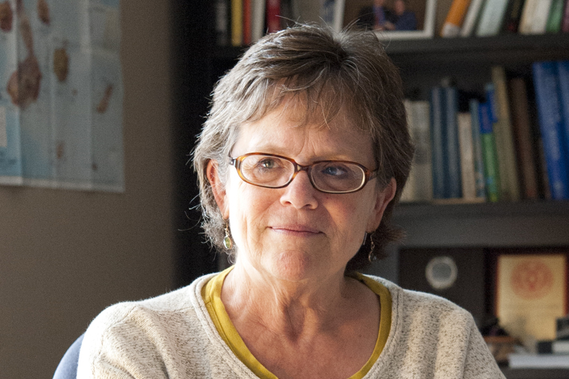 The American Ornithologists' Union noted the more than 180 publications Des Lee Professor of Zoological Science Patty Parker has contributed to the field of ornithology in their announcement of her as the 2016 William Brewster Memorial Award winner.(Photo by August Jennewein)