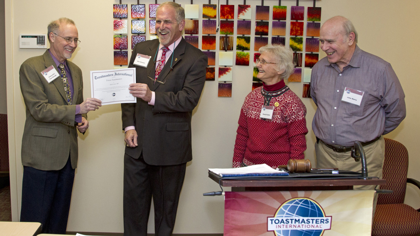 UMSL's chief marketing officer earns rare Distinguished Toastmaster distinction