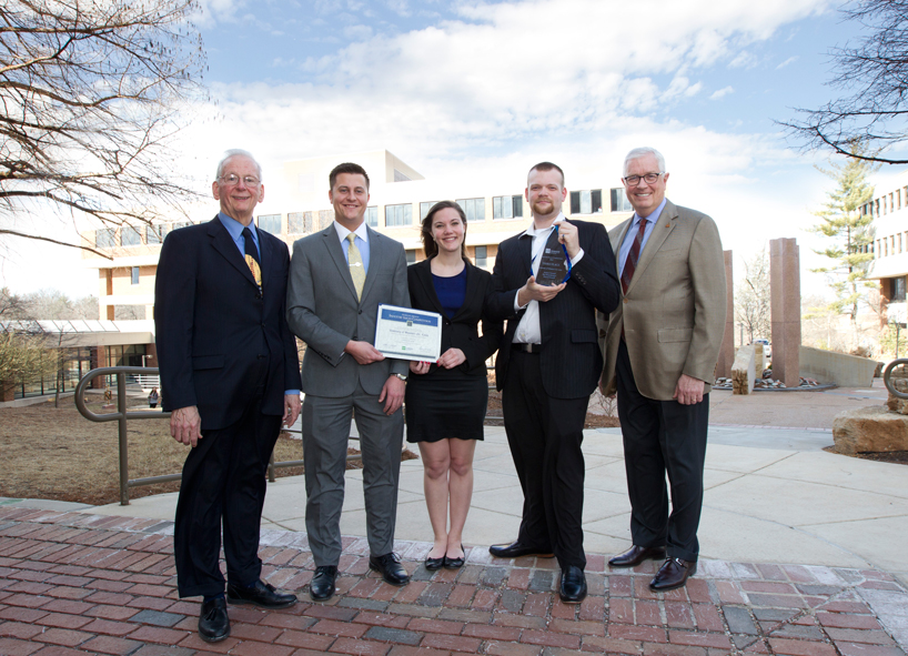 UMSL finance students earn scholarship in professional competition