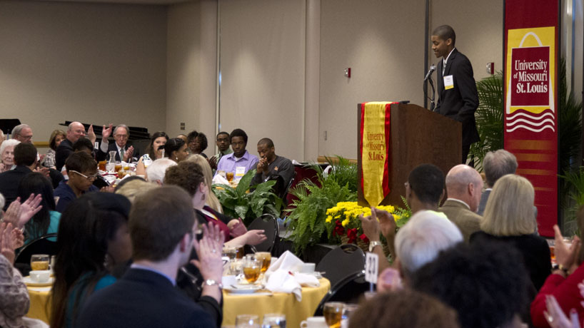 Thank you: UMSL students, donors celebrate scholarships