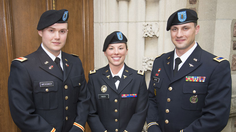 These UMSL grads reporting for military duty