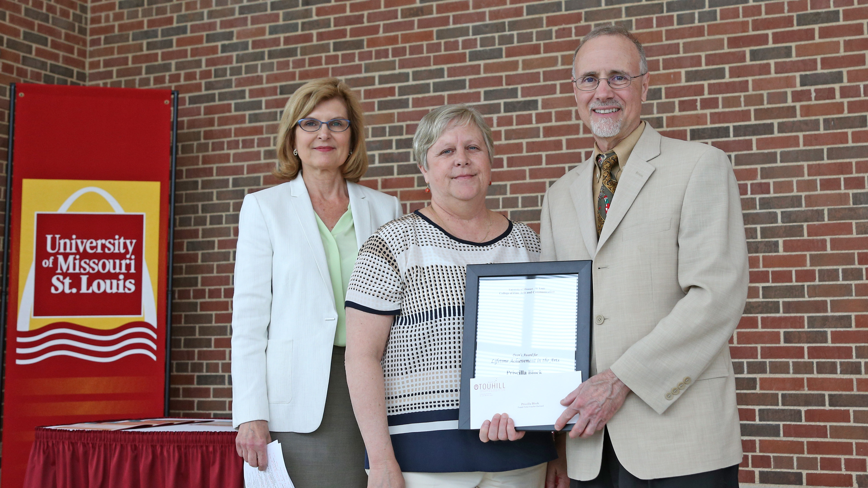 Friends, faculty, staff honored by UMSL Fine Arts and Communication